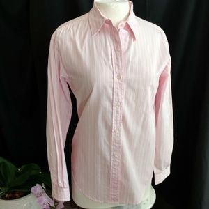 Evan-Picone Pink Striped Shirt